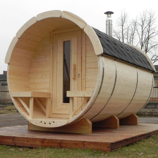 Sauna finlandese a botte da esterno diam 1.9m x 3m