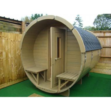 Sauna finlandese a botte da esterno diam 2.2m x 3.5m