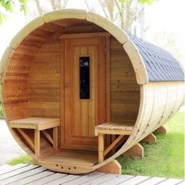Sauna finlandese a botte da esterno diam 2.2m x 4m