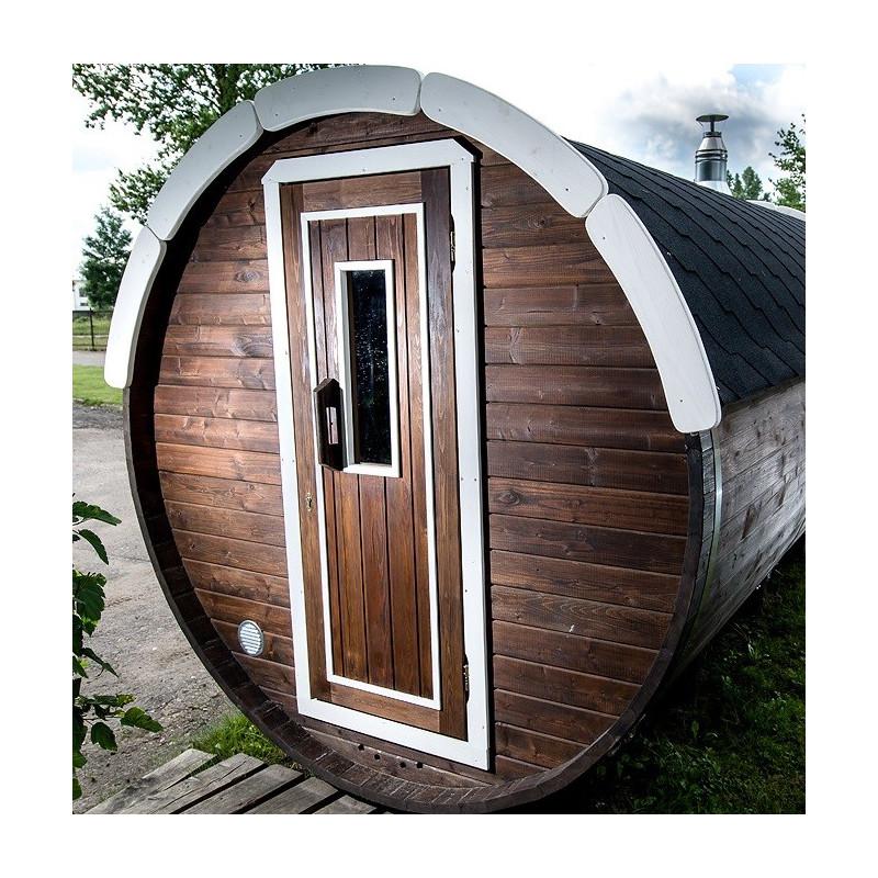 Sauna finlandese a botte da esterno D. 1.9 m L 2.0 m ottimo prezzo