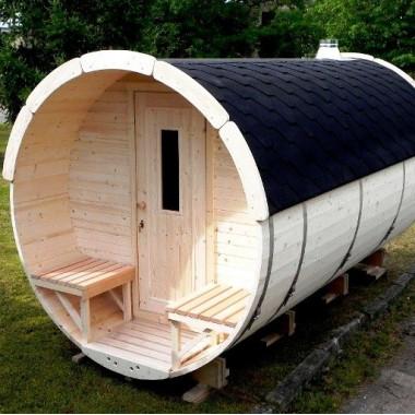 Sauna finlandese a botte da esterno diam 2.2m x 3m