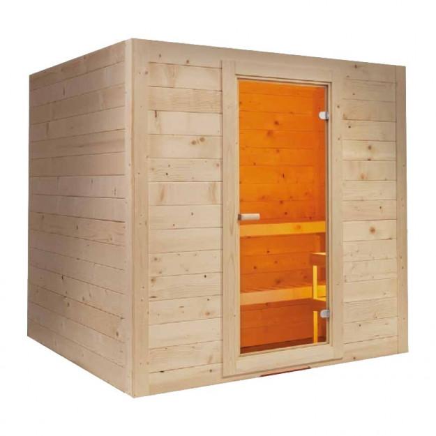 Sauna finlandese in abete rosso per casa 6 o 8 persone prezzo speciale