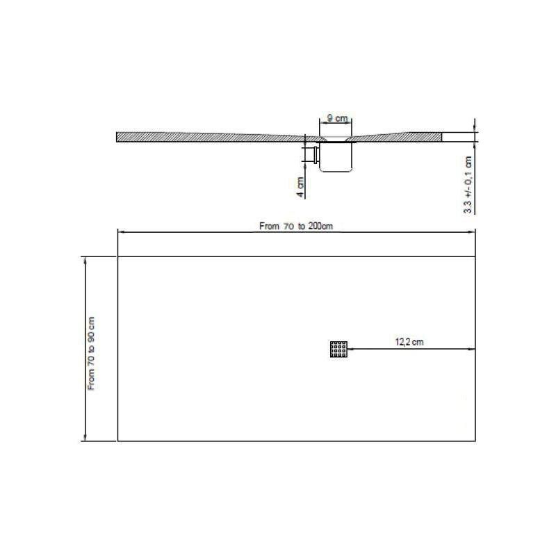 Piatto doccia misure standard trendy ideal docciat with piatto doccia misure standard gallery - Dimensioni doccia standard ...