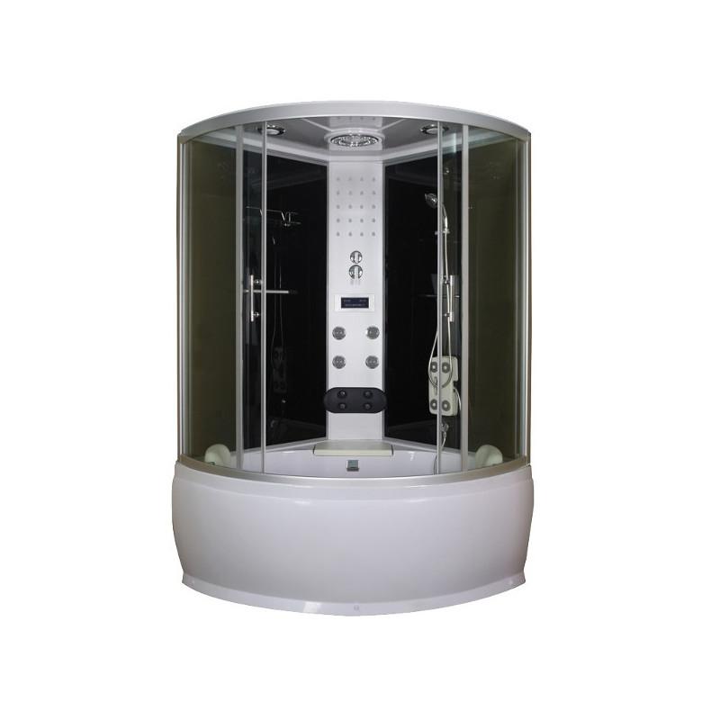 Box doccia idromassaggio semicircolare con vasca 120x120 for Box doccia con idromassaggio