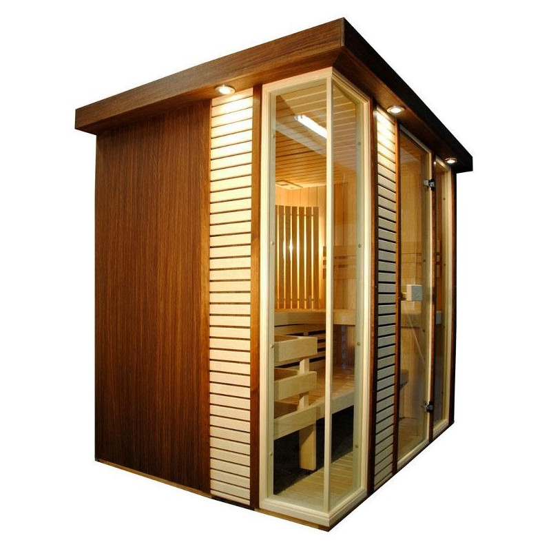 Great sauna finlandese dal design raffinato e moderno with - Costo sauna in casa ...