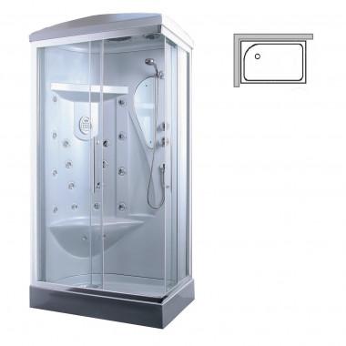 Box doccia idromassaggio Tango sinistra 110x70 cm