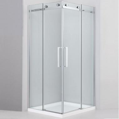 Cabina doccia antine scorrevoli 100x100cm vetro 8mm