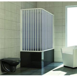 Box sopra vasca angolare in PVC