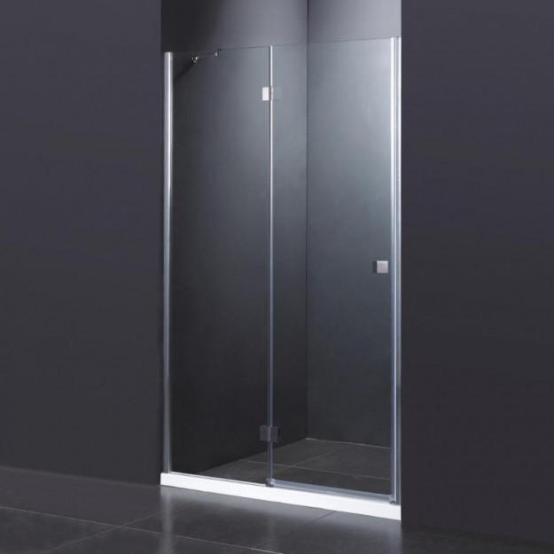 Parete doccia nicchia 1 anta a battente vetro temprato 8mm - Cabine doccia vetro ...