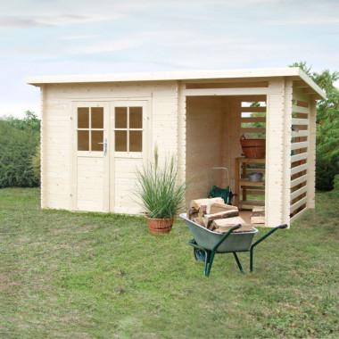 Casetta da giardino in legno di abete 3.8x2m Erika