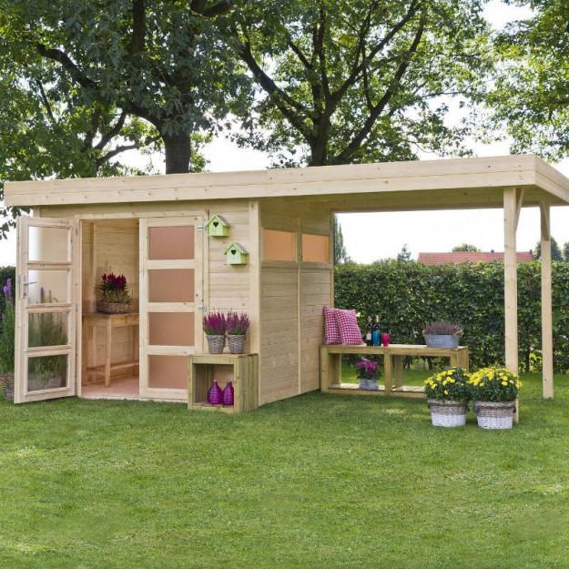 Casetta da giardino in legno di abete vermont m for Casetta in legno prezzo