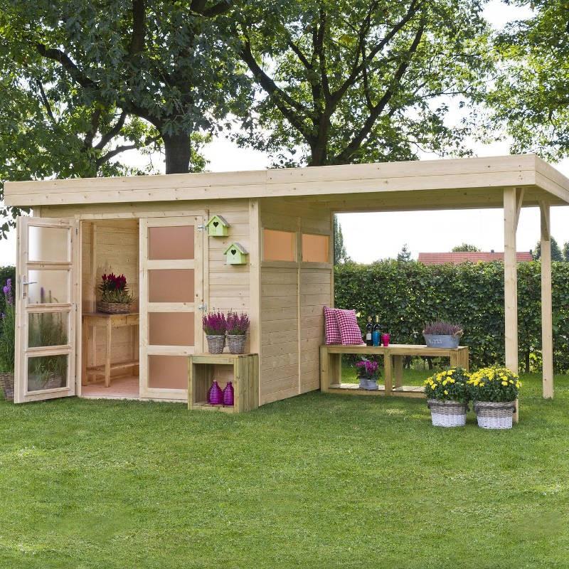 Casetta da giardino in legno di abete vermont m - Casetta in legno da giardino bianca ...