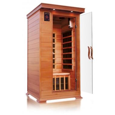 Sauna ad infrarossi a pannelli di carbonio per 1 persona con cromoterapia