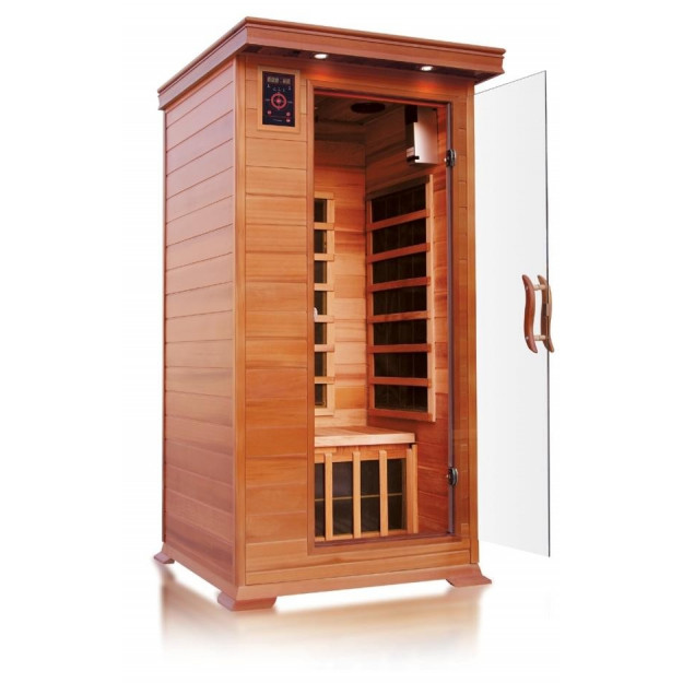 Sauna ad infrarossi a pannelli di carbonio per persona con - Costo sauna in casa ...