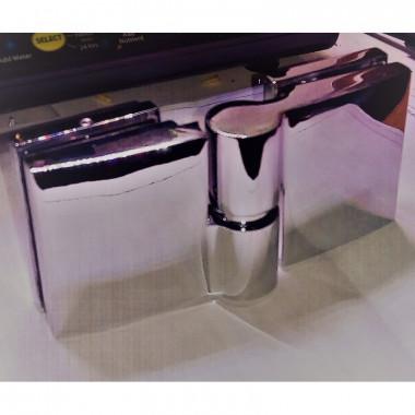Coppia cerniere per porte vetro doccia, sauna e bagno turco 90° acciaio INOX