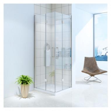 Cabina doccia due porte apertura soffietto 70x70 cm