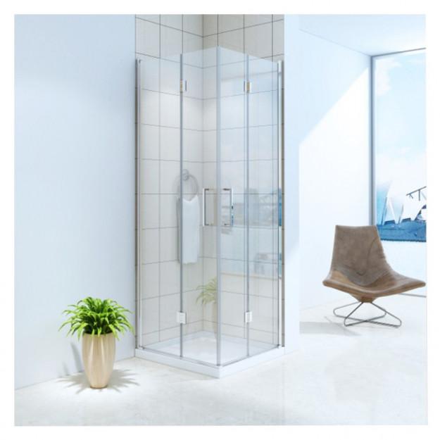 Cabina doccia due porte apertura soffietto 90x90 cm
