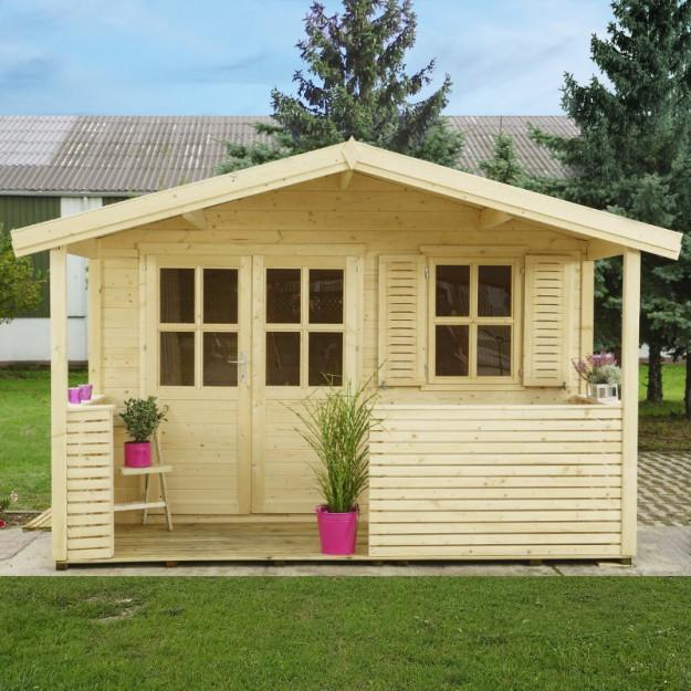 Casetta da giardino in legno di abete 3.5x4m Francesco