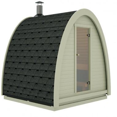 Sauna finlandese Pod da esterno con 2,3x2,4 m