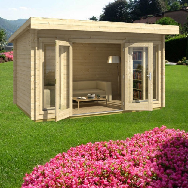 Casetta da giardino in legno di abete margherita 3 3 x2m for Casetta di legno da giardino