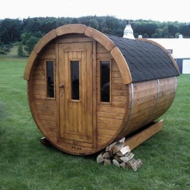 Sauna finlandese a botte da esterno diam 1.9m x 2m