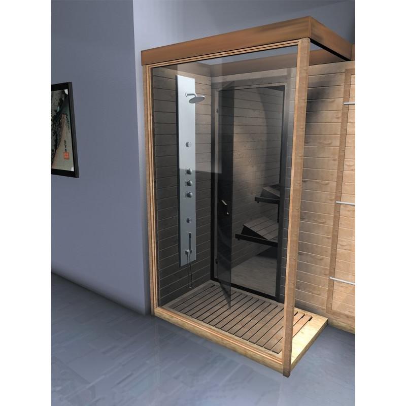 Doccia sauna finlandese combinata in legno in offerta online for Doccia sauna