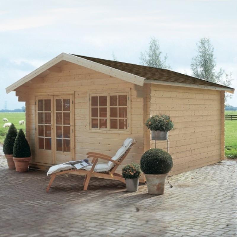 Casetta da giardino in legno di abete barcelona 4x4m for Abete da giardino