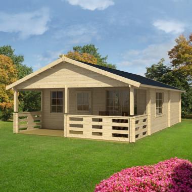 Casa cottage in legno di abete 40mq Oka