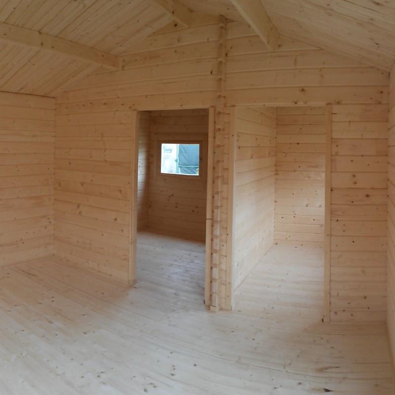 Casa cottage in legno di abete 40 mq oka x 9 4 m con for Disegni casa cottage