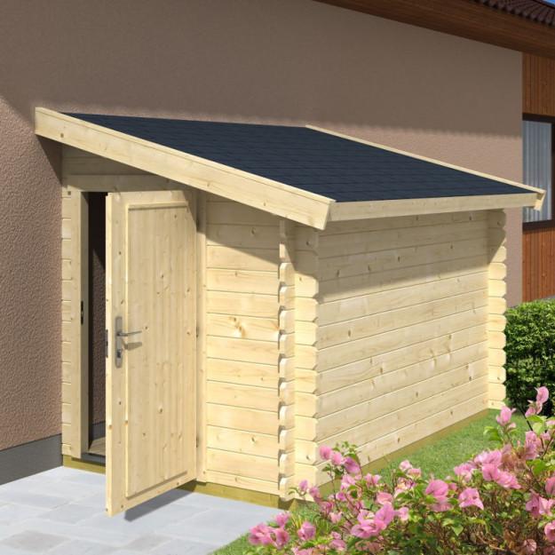Casetta porta attrezzi da appoggio a muro in legno - Porta attrezzi legno ...