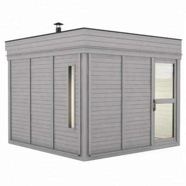 Gazebo da giardino con sauna doccia e spogliatoio 3x3 m