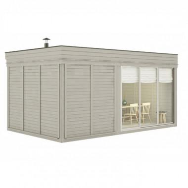 Gazebo da giardino con sauna doccia e soggiorno 5x3 m