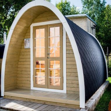 Gazebo in legno casetta bungalow da giardino a iglu 7,5mq 4x2,4m