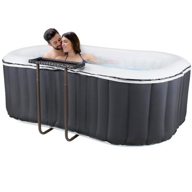 Piscina idromassaggio gonfiabile da esterno 2 posti - Vasca da bagno piscina ...
