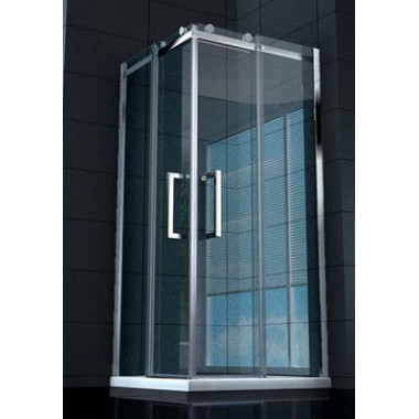Box doccia vetro trasparente 8mm Pearl 100x100 cm