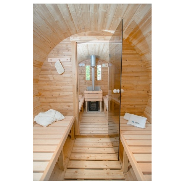 Interno sauna a botte