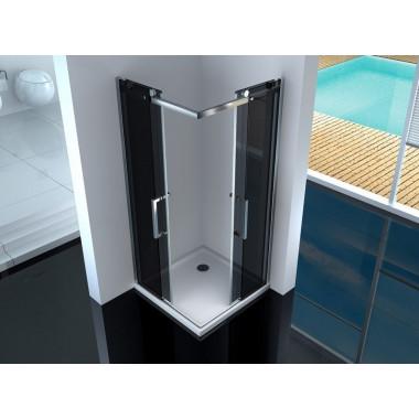 Box doccia in vetro fumé 8 mm Pearl 100x70 cm