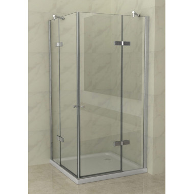 Box doccia 2 ante battenti 70x100cm vetro trasparente 8mm