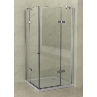 Cabina doccia 2 ante battenti - 8 mm di spessore vetro trasparente
