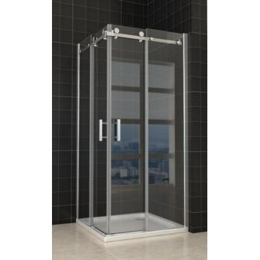 Box doccia ante scorrevoli 80x120 cm superlusso vetro trasparente 8mm