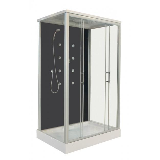 Box doccia idromassaggio 120x90cm vista a sinistra