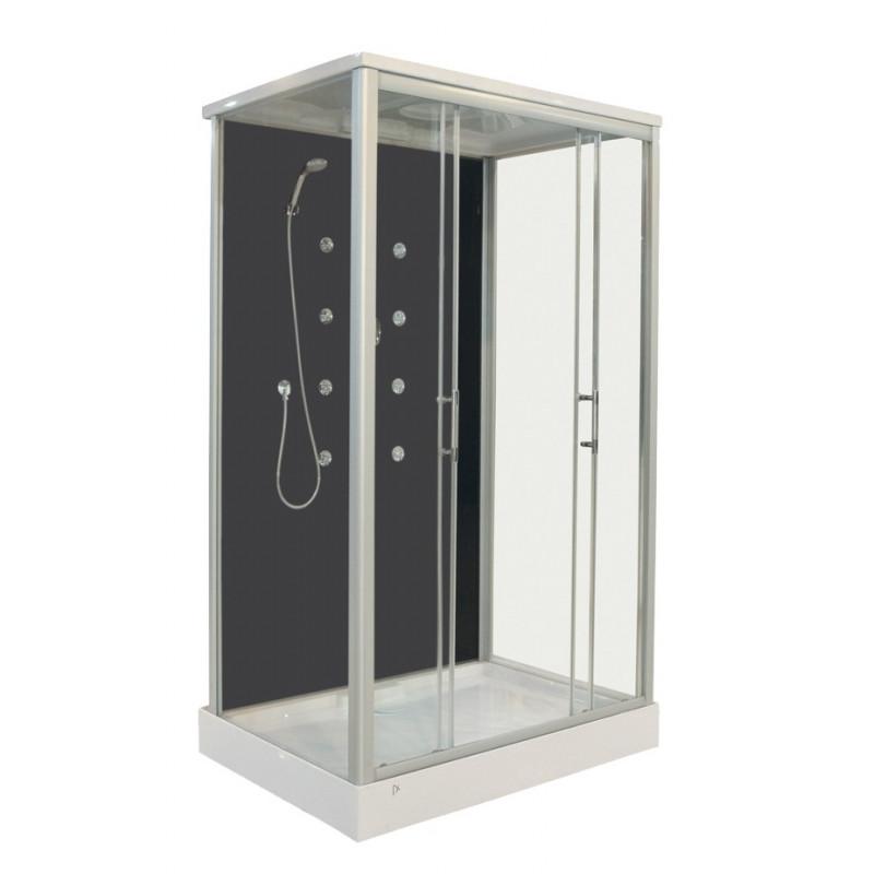 Box doccia rettangolare 120x90 cm con idromassaggio 8 - Box doccia con sedile ...