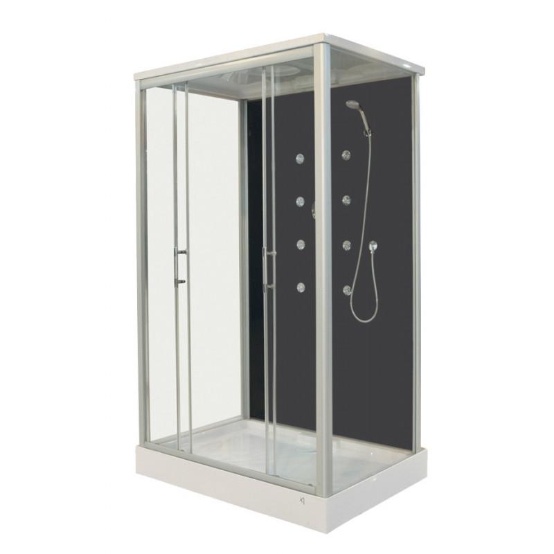 Box doccia rettangolare 120x90cm economico con idromassaggio - Doccione per doccia ...