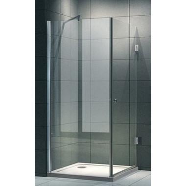Box doccia anta battente vetro 8mm lusso 100x90 cm