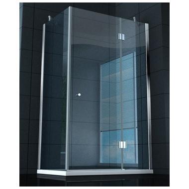Box doccia superlusso vetro temprato 8 mm 100x80 cm