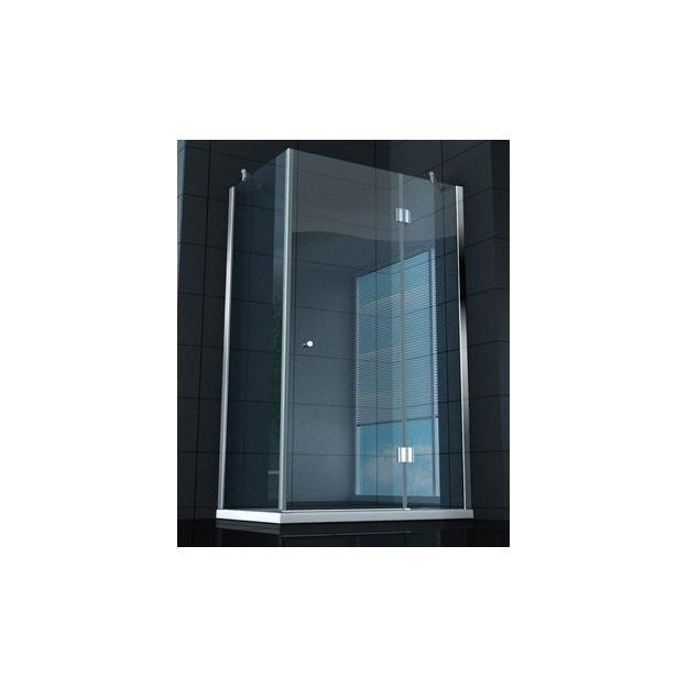 Box doccia superlusso vetro temprato 8 mm 120x80 cm