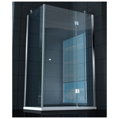 Box doccia superlusso vetro temprato 8 mm 130x70 cm