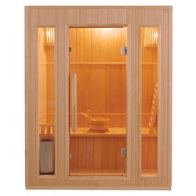 Sauna finlandese 3 posti 110x153 cm