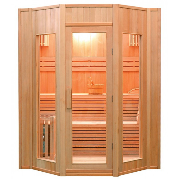 Sauna finlandese 4 posti angolare 174x198 cm