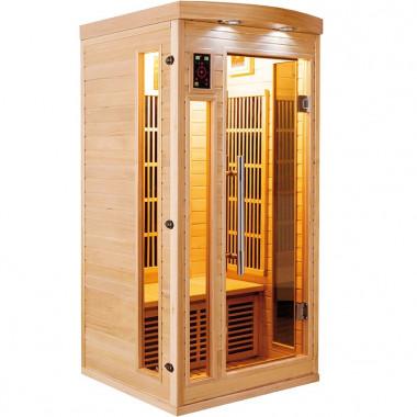 Sauna infrarossi a pannelli di carbonio per 1 persona aroma-cromoterapia